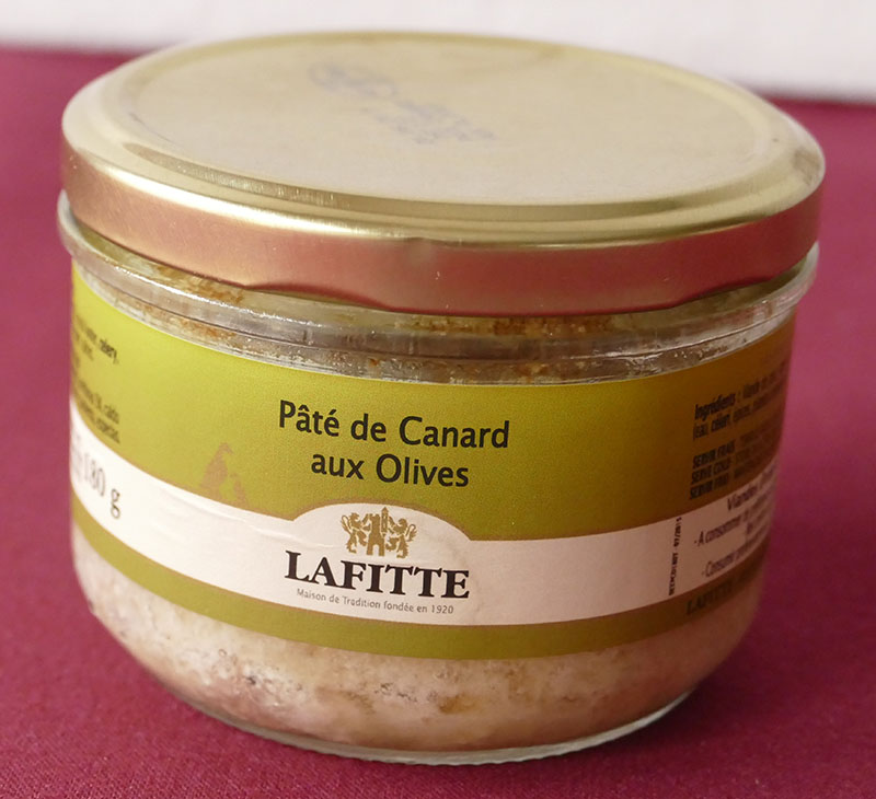 Duck pâté with olives 180G-small